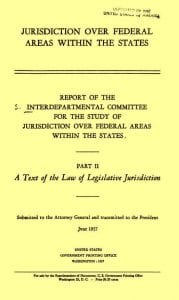 1957 Part II Jurisdiction Over a Federal Areas Within the State